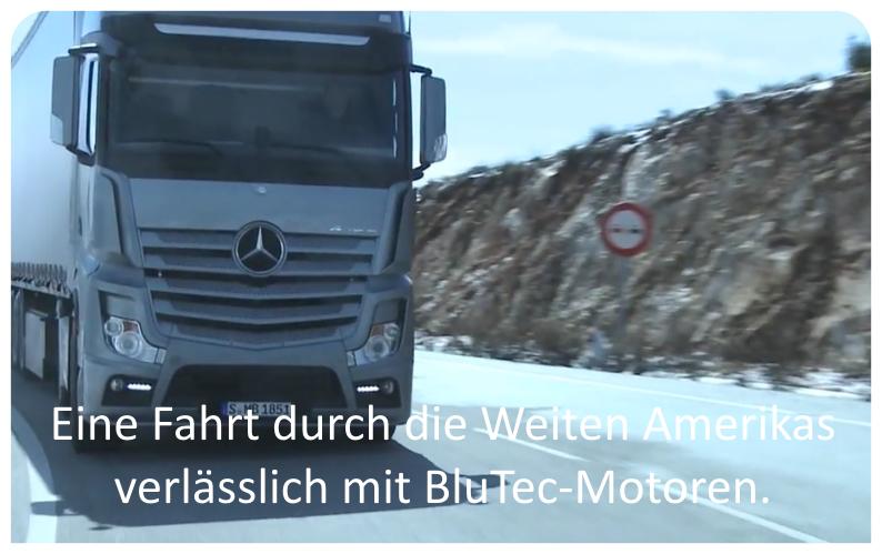 Eine Fahrt durch die Weiten Amerikas - verlässlich mit BluTec-Motoren.